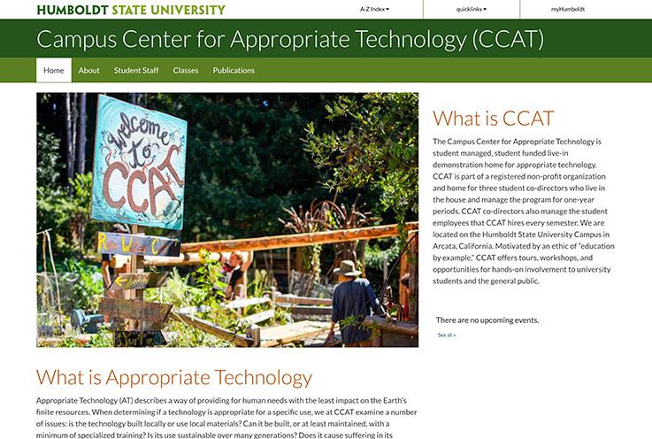 CCAT website screenshot