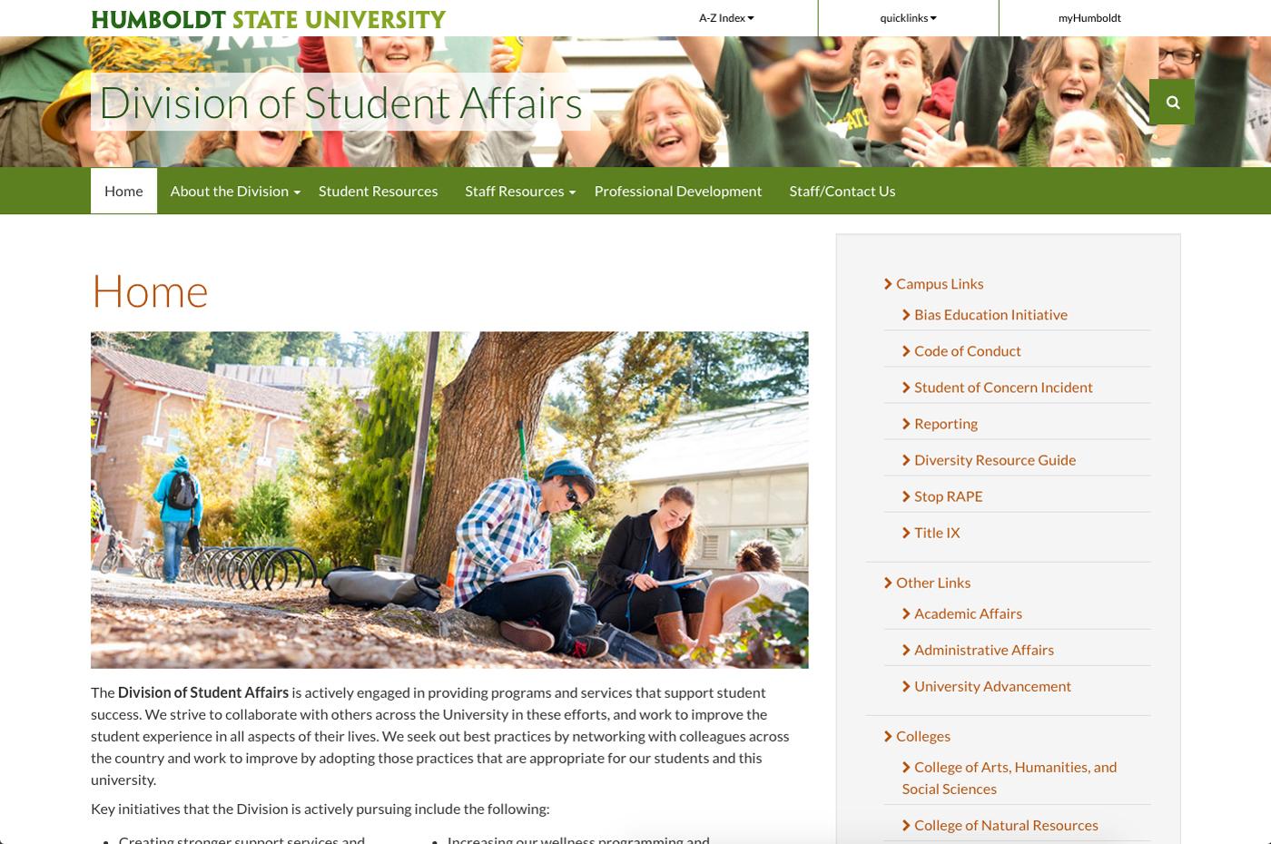 Student Affairs Screenshot