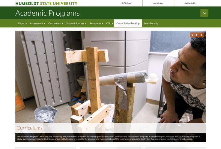 Academic Programs Website Screenshot