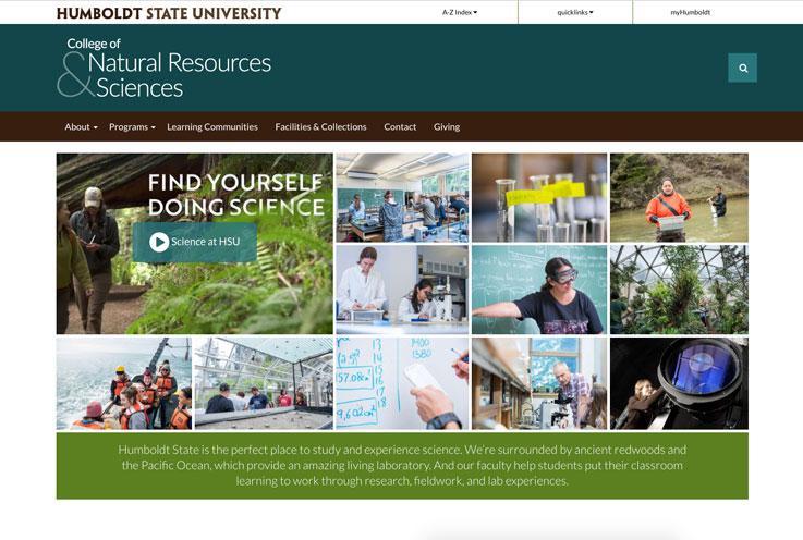 CNRS College Website Screenshot