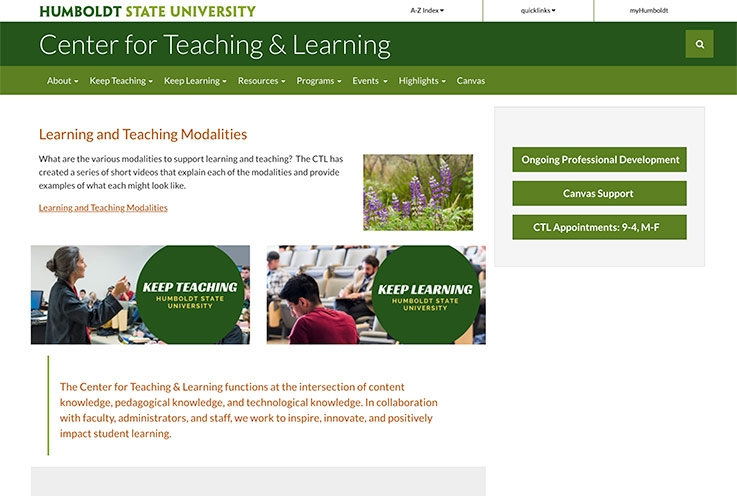 CTL Website screenshot