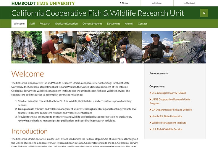 CUCA website screenshot