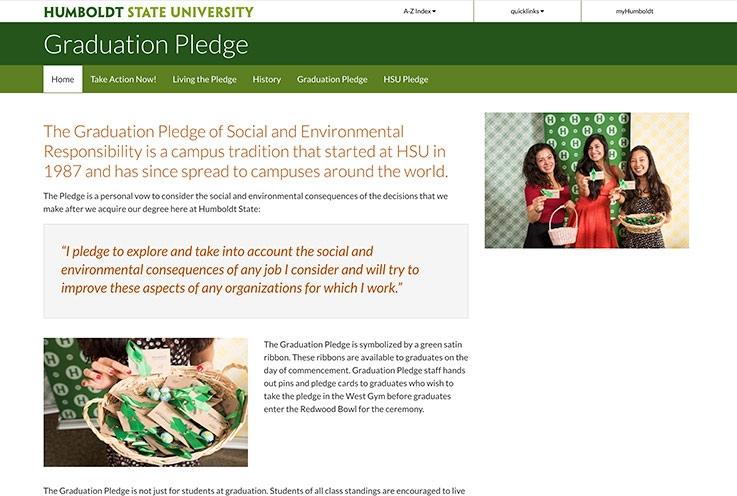 Grad Pledge website screenshot