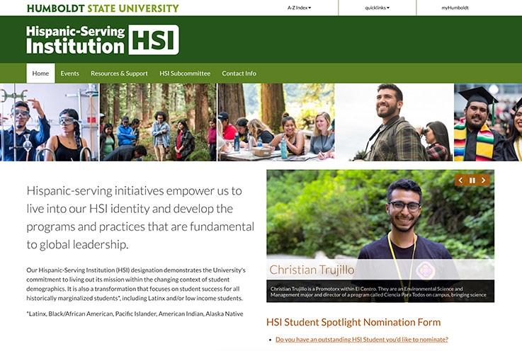 HSI website screenshot